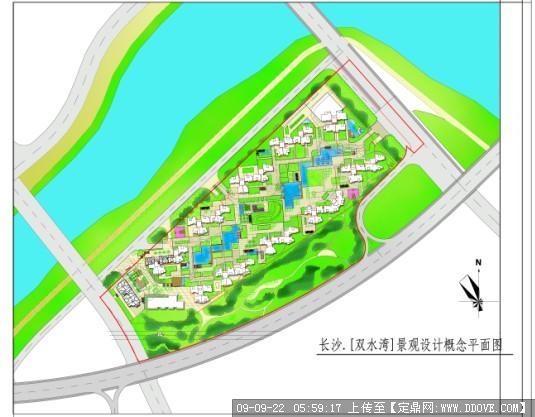 定鼎网 定鼎园林 园林方案设计 公园景观 ps彩平图  序号 文件名