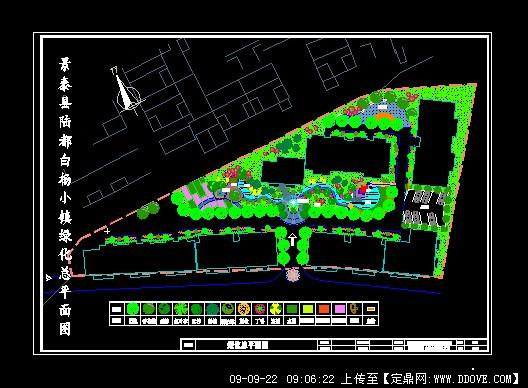 小镇景观规划平面图