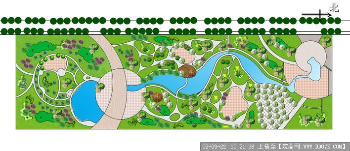 街道小游园景观绿化设计方案平面效果图