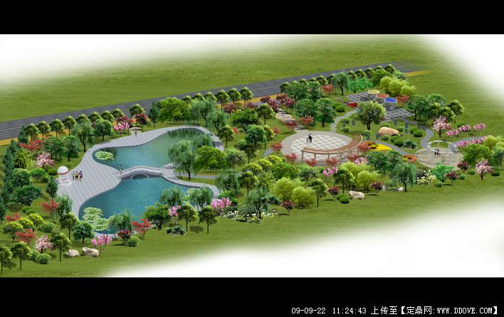 定鼎网 定鼎园林 园林效 果图 公园景观 城市休闲公园小游园景观设计