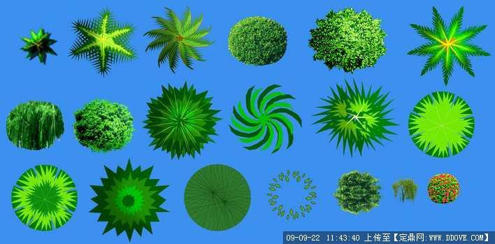 ps后期效果图素材之植物贴图素