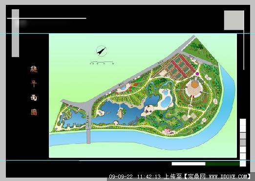 松洲公园景观规划总平面图jpg