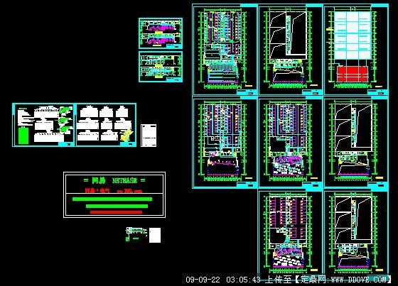 汽车展厅电气平面图
