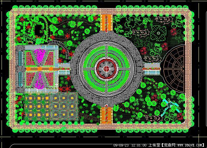 某公园景观规划方案总平图