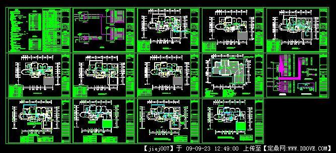 别墅电气设计图纸