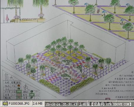 小型商業廣場景觀設計圖