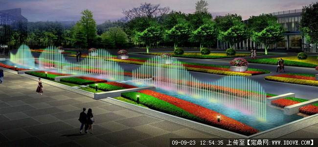 广场中心喷泉图片,图片尺寸:650×400,来自网页:http://www.3lian.
