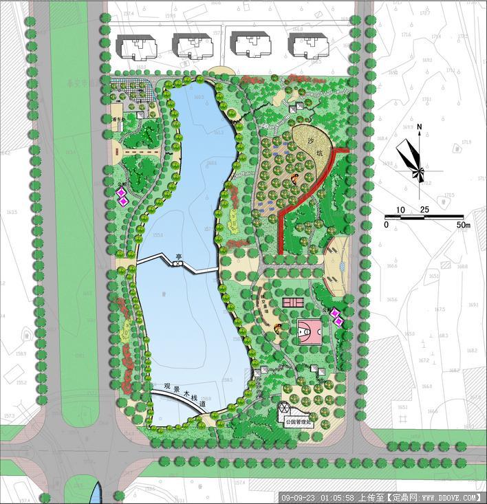 公园景观规划方案彩平图