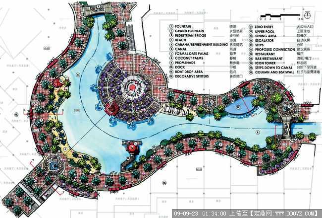 定鼎网 定鼎园林 园林方案设计 公园景观 大量园林国外平面设计手绘
