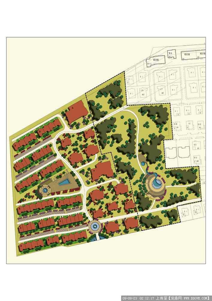 某住宅小区景观总平面
