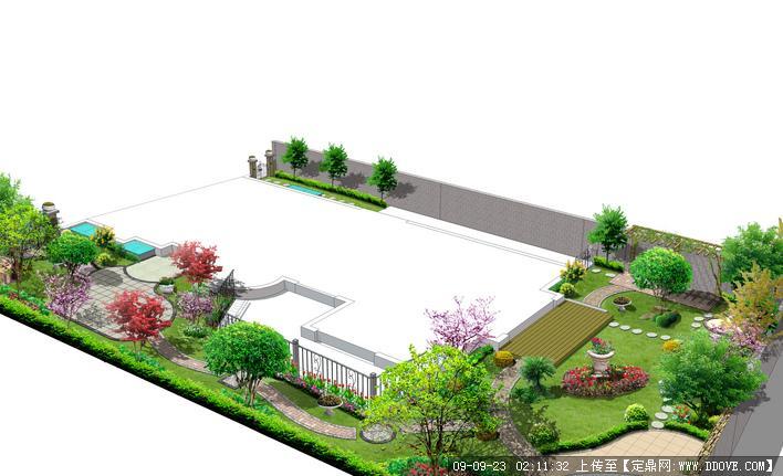 别墅庭院小花园景观设计方案