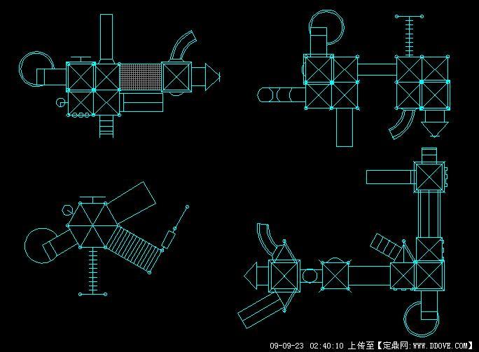 儿童游乐器材平面图