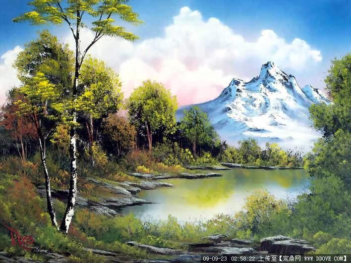 定鼎网 定鼎园林 园林效 果图 手绘效果 超漂亮的水彩风景画欣赏  2 5