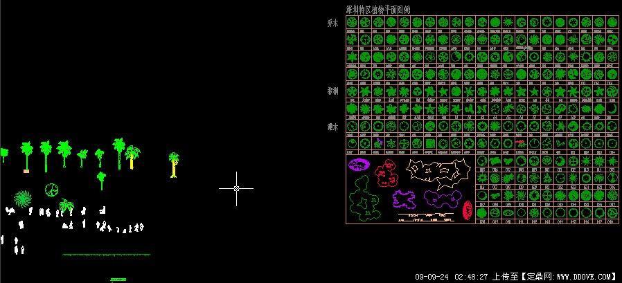 植物cad平面图例素材