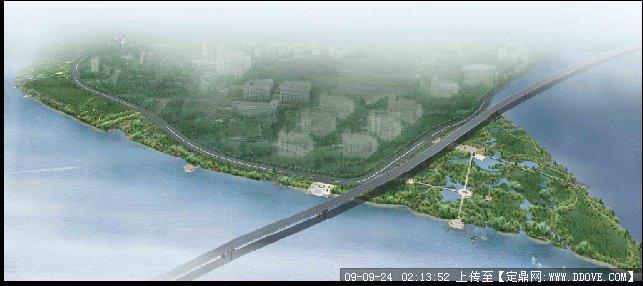 滨江湿地景观效果图