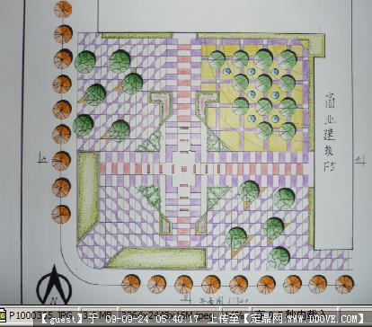 城市小廣場景觀設計方案圖紙