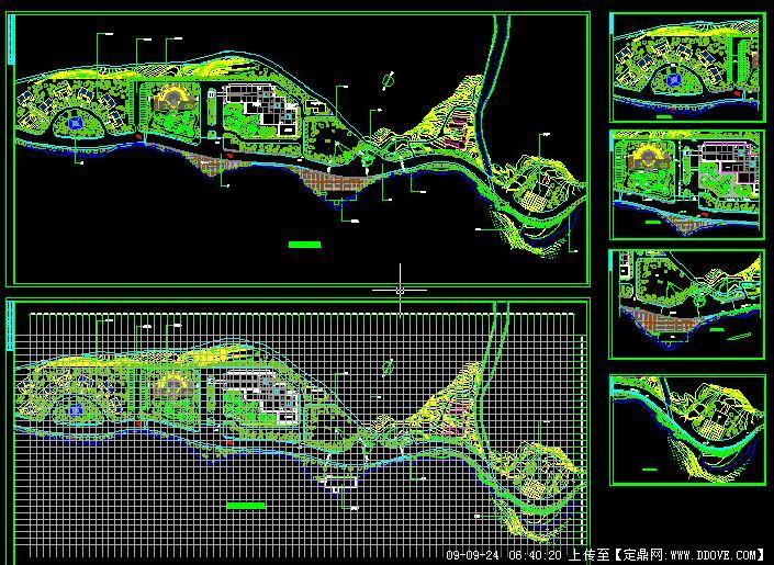 某旅游景区规划图和景点详图