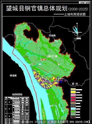 定鼎园林 园林方案设计 城乡规划 乡镇总体规划之土地利用现状分析图