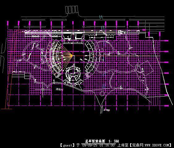 某市休闲广场景观工程CAD竣工图全套割线机图纸cad图纸图片