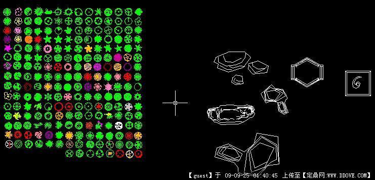 植物图例_植物平面图例,手绘植物图例; cad花草图库; cad画三维图分享