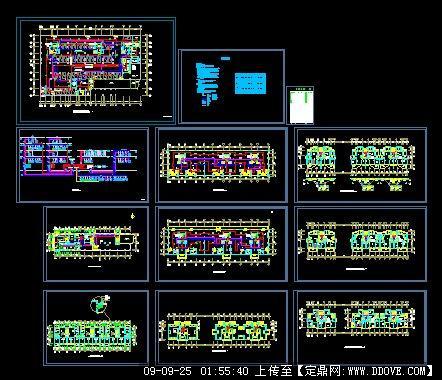 住宅高层平面图_塔式住宅平面图