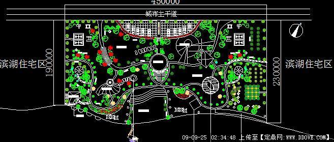 某地滨水景观滨湖住宅区景观设计方案cad图纸