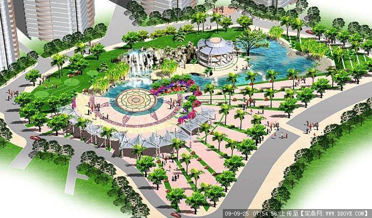 居住区绿化广场景观效果图