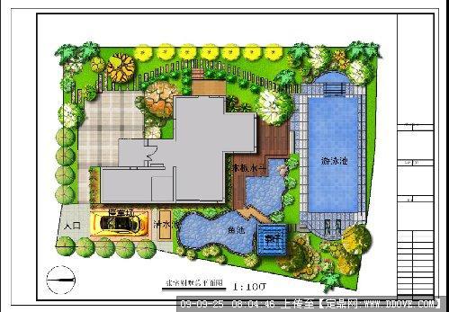 别墅的景观设计平面图的下载地址,园林方案设计,花园