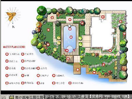 滨海花园别墅庭院方案设计平面布置图jpg