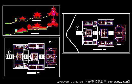 一个大型寺庙方案设计图纸