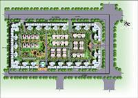 车库 挡土墙 墙裙 两侧/某住宅小区规划总平面图