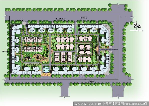 某住宅小区规划总平面图