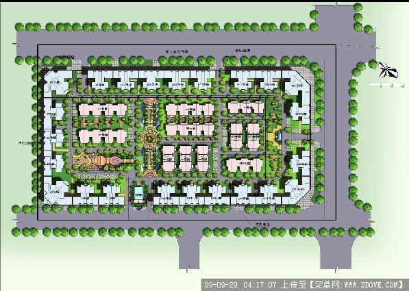 住宅小区彩色总平面图