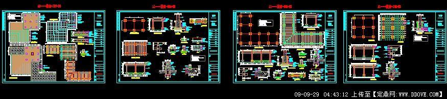 木质廊架施工图玻璃廊架施工图木质平台施工图;
