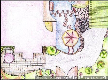 手绘平面图