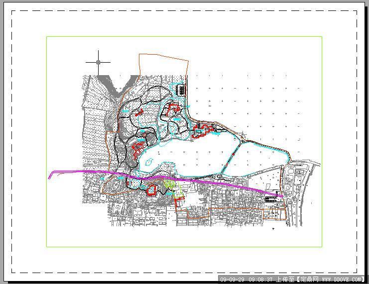 慈湖公园景观规划cad总平面图(精品工程)的下载地址