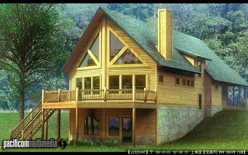 美国风情田园别墅小屋实景照片的图片浏览 图片 110k 800x500-美国乡图片