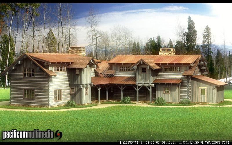 美国风情田园别墅小屋实景照片