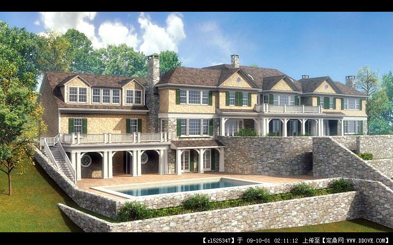 美国风情田园别墅小屋实景照片的图片浏览