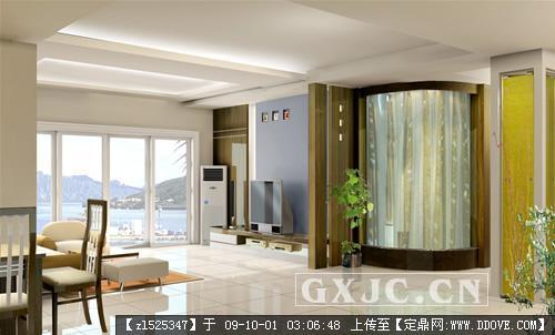 精品客廳室內裝修電視背景墻效果圖