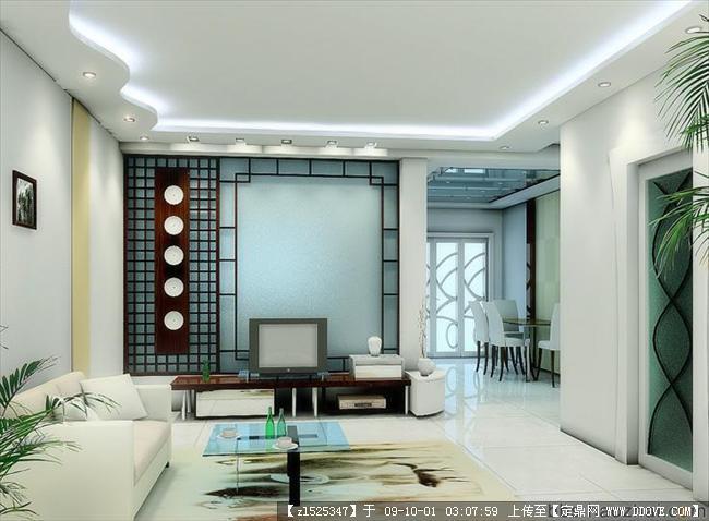 精品客厅室内装修电视背景墙效果图