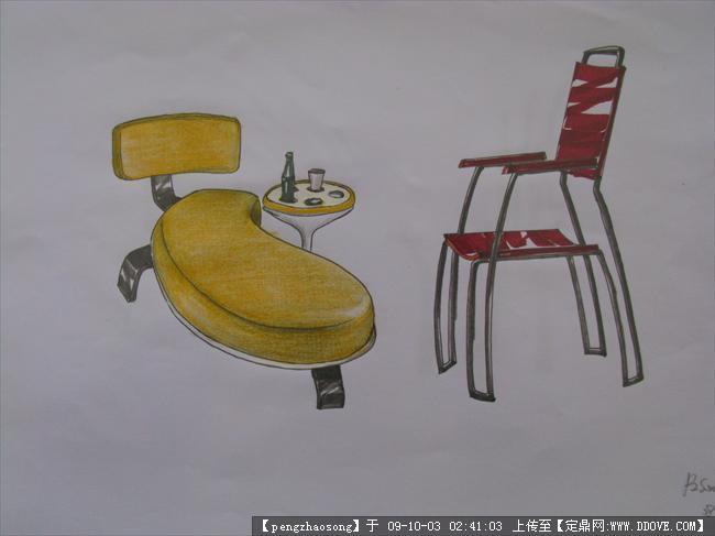 我的家具设计手绘图纸