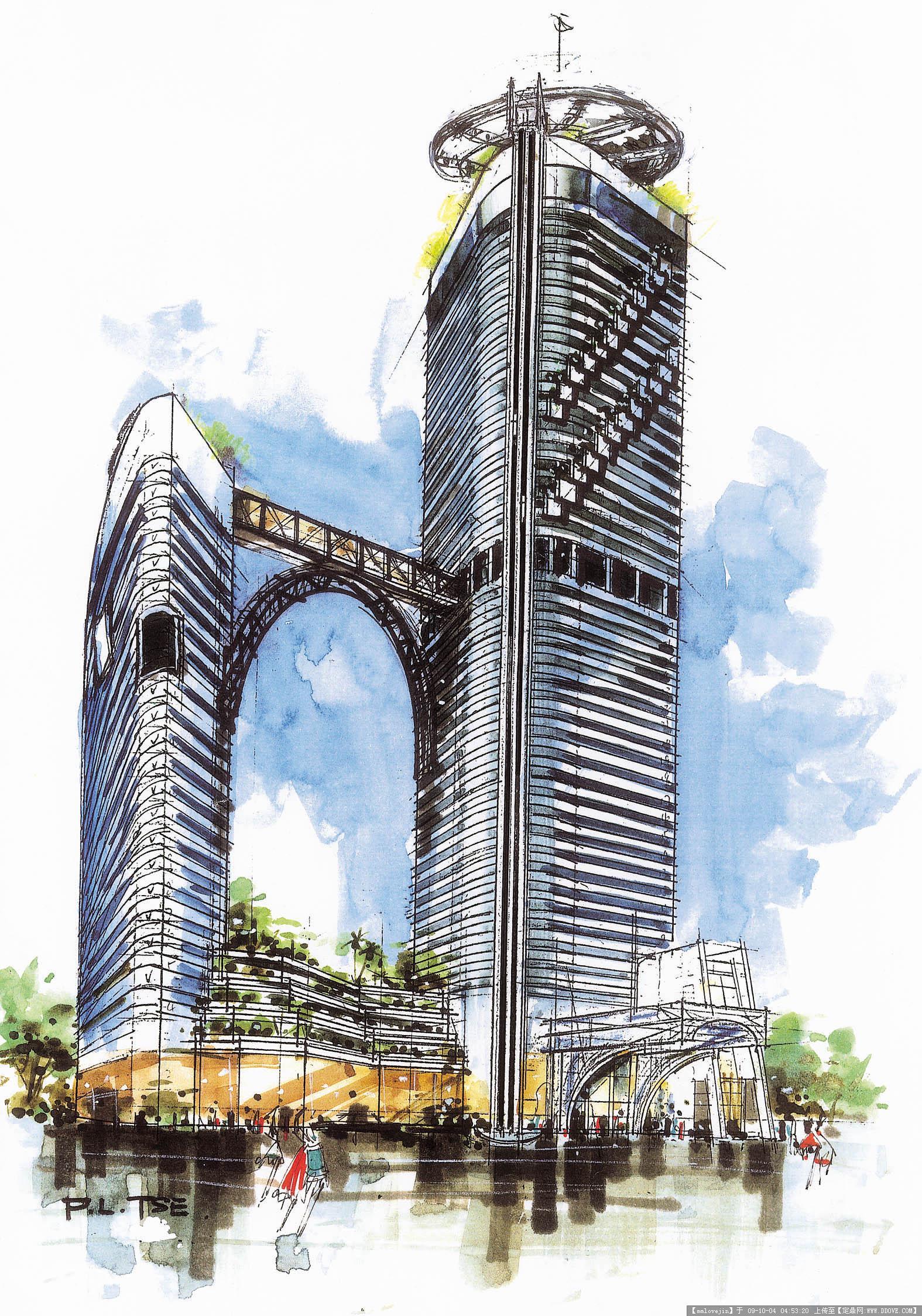 建筑设计手绘图模板下载 建筑; >建筑设计手绘图; 建筑绘图模板分享