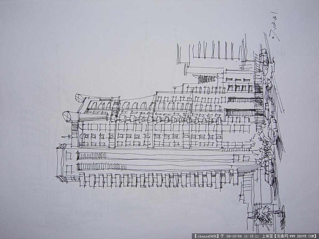 钢笔速写 - 最新图片第12页 - 动手网 古建筑速写钢笔画临摹-钢笔画专