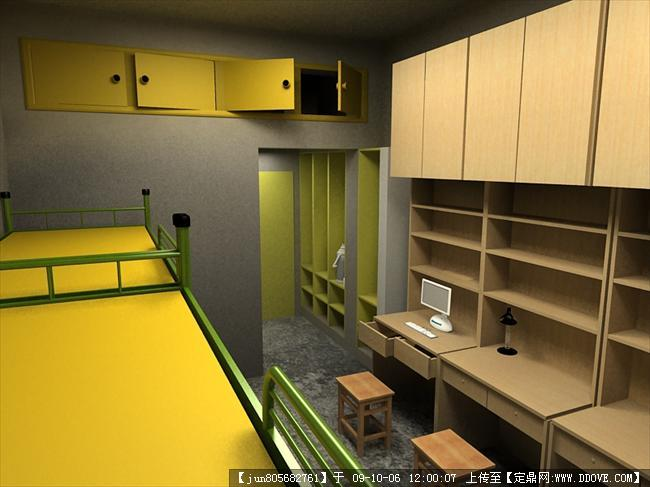 大学宿舍3dmax效果图(2张)的图片浏览,室内效 果图,,.
