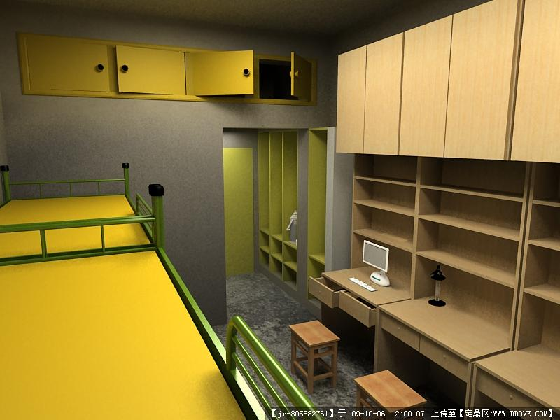 大学宿舍3dmax效果图(2张)图片