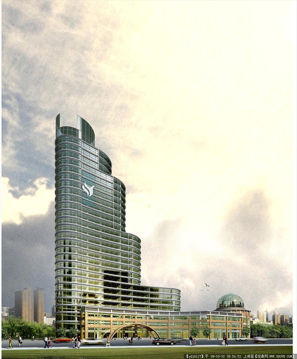 酒店公寓cad图及效果图的下载地址,建筑方案图纸,宾馆