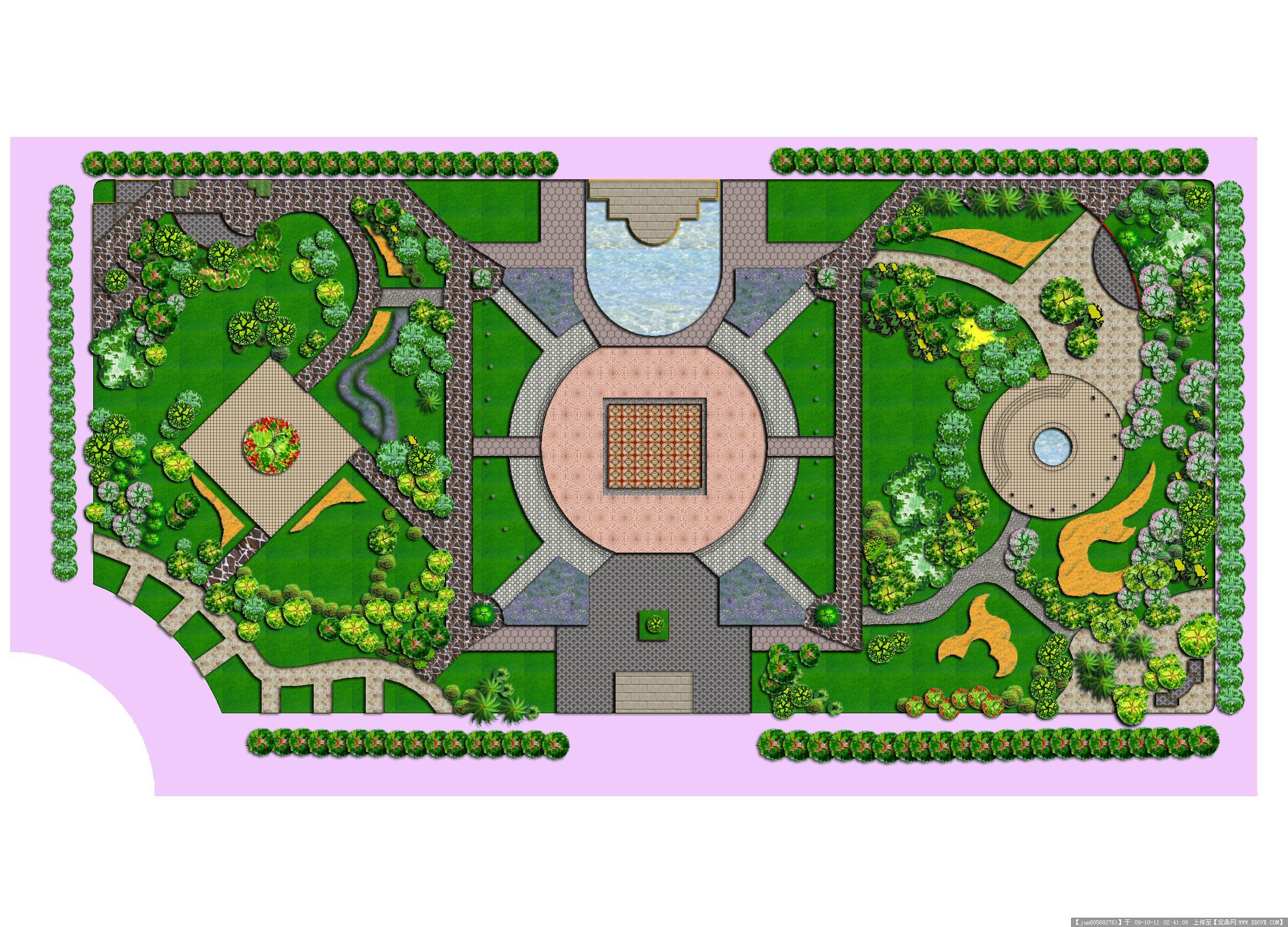 几张居住区景观绿化效果图