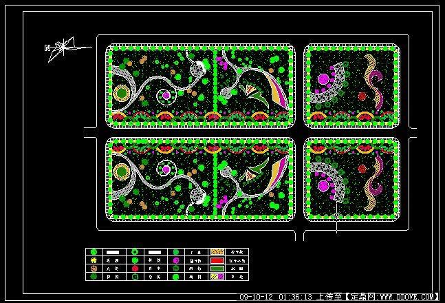 街头绿地规划设计平面图分享展示