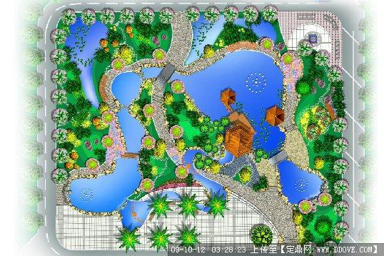 工厂小公园景观规划平面效果图